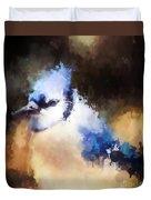 Splatter Art - Blue Jay Duvet Cover