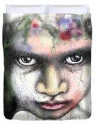 Splattered Stare Duvet Cover