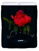 Splendid Peony In Vase. Duvet Cover