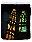 Splendid Stained Glass Windows Duvet Cover