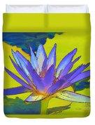 Splendid Water Lily Duvet Cover