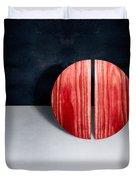 Split Circle Red Duvet Cover