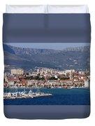 Split Croatia's Waterfront Duvet Cover