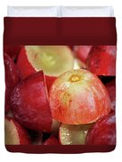 Split Red Grapes Duvet Cover