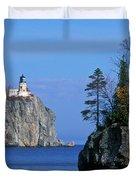 Split Rock Lighthouse - Fs000120 Duvet Cover