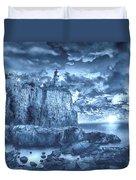 Split Rock Lighthouse Blue Duvet Cover
