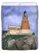 Split Rock Lighthouse On The Great Lakes Duvet Cover