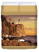 Split Rock Lighthouse Duvet Cover