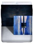Split Square Blue Duvet Cover