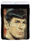 Spock Star Trek Mosaic Duvet Cover by Paul Van Scott