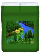 Spokane River Blues Duvet Cover