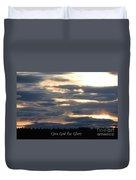 Spokane Sunset - Give God The Glory Duvet Cover