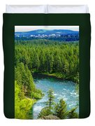Spokane...the River And The City Duvet Cover