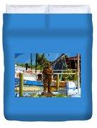 Sponge Diver Duvet Cover