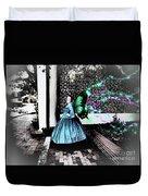 Spooky Historic Butterfly Dahlonega  Duvet Cover