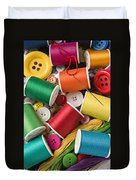 Spools Of Thread With Buttons Duvet Cover