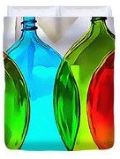 Spoon Bottles-rainbow Theme Duvet Cover