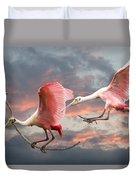 Spoonbill Fantasy #2 Duvet Cover