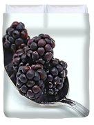 Spoonful Of Blackberries Duvet Cover