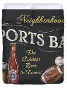 Sports Bar Duvet Cover