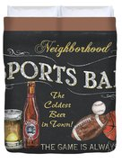 Sports Bar Duvet Cover