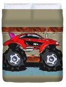 Sports Car Monster Truck Duvet Cover