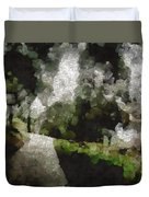 Spot Light On A Fight On A Lone Path Duvet Cover