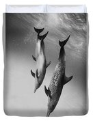 Spotted Dolphins - Bw Duvet Cover