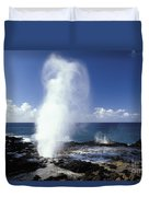Spouting Horn Blow Hole Duvet Cover
