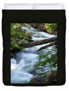 Sprague Creek Glacier National Park Duvet Cover