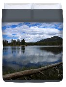 Sprague Lake Cloud Reflection Duvet Cover