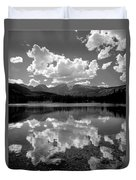 310204-bw-sprague Lake Reflect Bw  Duvet Cover
