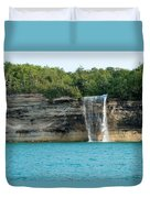 Spray Falls On The Water Duvet Cover