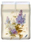 Spray Of Lilac Duvet Cover