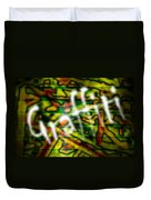 Spray Painted Graffiti Duvet Cover