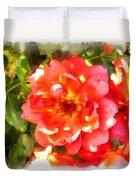 Spread Petals Of A Red Rose Duvet Cover