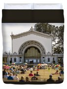 Spreckels Organ Pavilion Concert - San Diego Duvet Cover