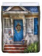 Spring - Door -  A Bit Of Blue  Duvet Cover
