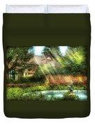 Spring - Garden - The Pool Of Hopes Duvet Cover