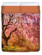 Spring - Sakura - A Beautiful Spring Day  Duvet Cover by Mike Savad