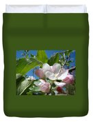 Spring Apple Blossoms Pink White Apple Trees Baslee Troutman Duvet Cover