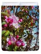 Spring Apple Blossoms- Spring Flowers Duvet Cover