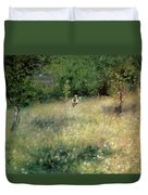Spring At Chatou Duvet Cover by Pierre Auguste Renoir