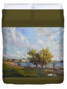 Spring At Gratwick Waterfront Park Duvet Cover