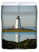 Spring At The Lighthouse Duvet Cover