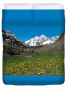 Spring At The Maroon Bells Duvet Cover by Cascade Colors