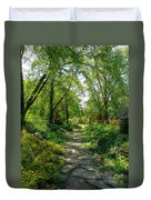 Spring At The Urban Oasis Portrait Duvet Cover