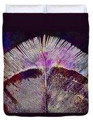 Spring Bird Feather Turkey Feather  Duvet Cover