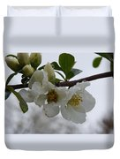 Spring Blooms In White Duvet Cover