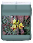 Spring Blooms Yellow Red 052814a Duvet Cover